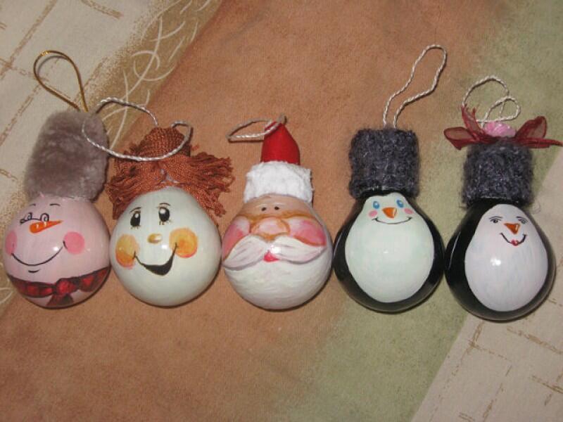 Новогодние игрушки своими руками для детского сада картинки